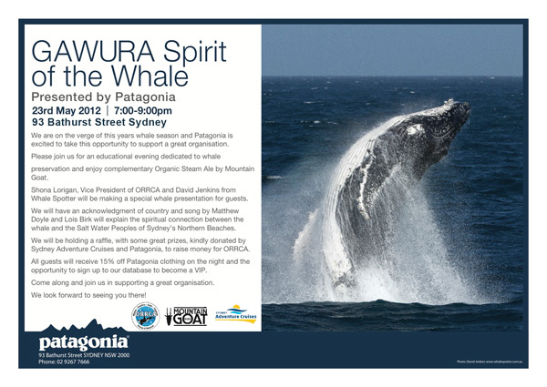 GAWURA Spirit of the Whale – 23rd May