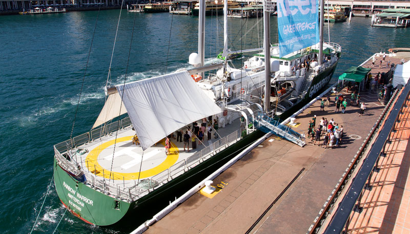 The Rainbow Warrior III in Sydney