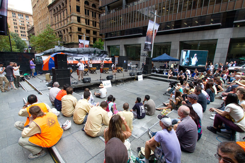 Speeches in Martin Place