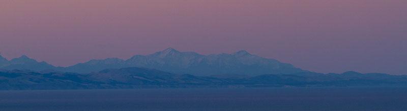 The Seaward Kaikoura Mountain Range